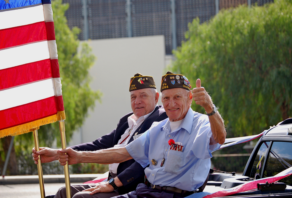 Veterans on Veteran's Day parade.